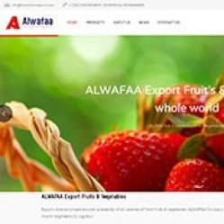 Designed website for ALWAFAA Company